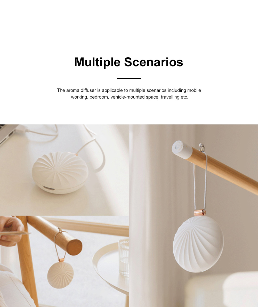 Portable Aroma Diffuser for Mobile Officing Bedroom Use USB Chargeable Aerosol Dispenser Shell Designed Mini Vehicle-mounted Nebulizing Diffuser 6