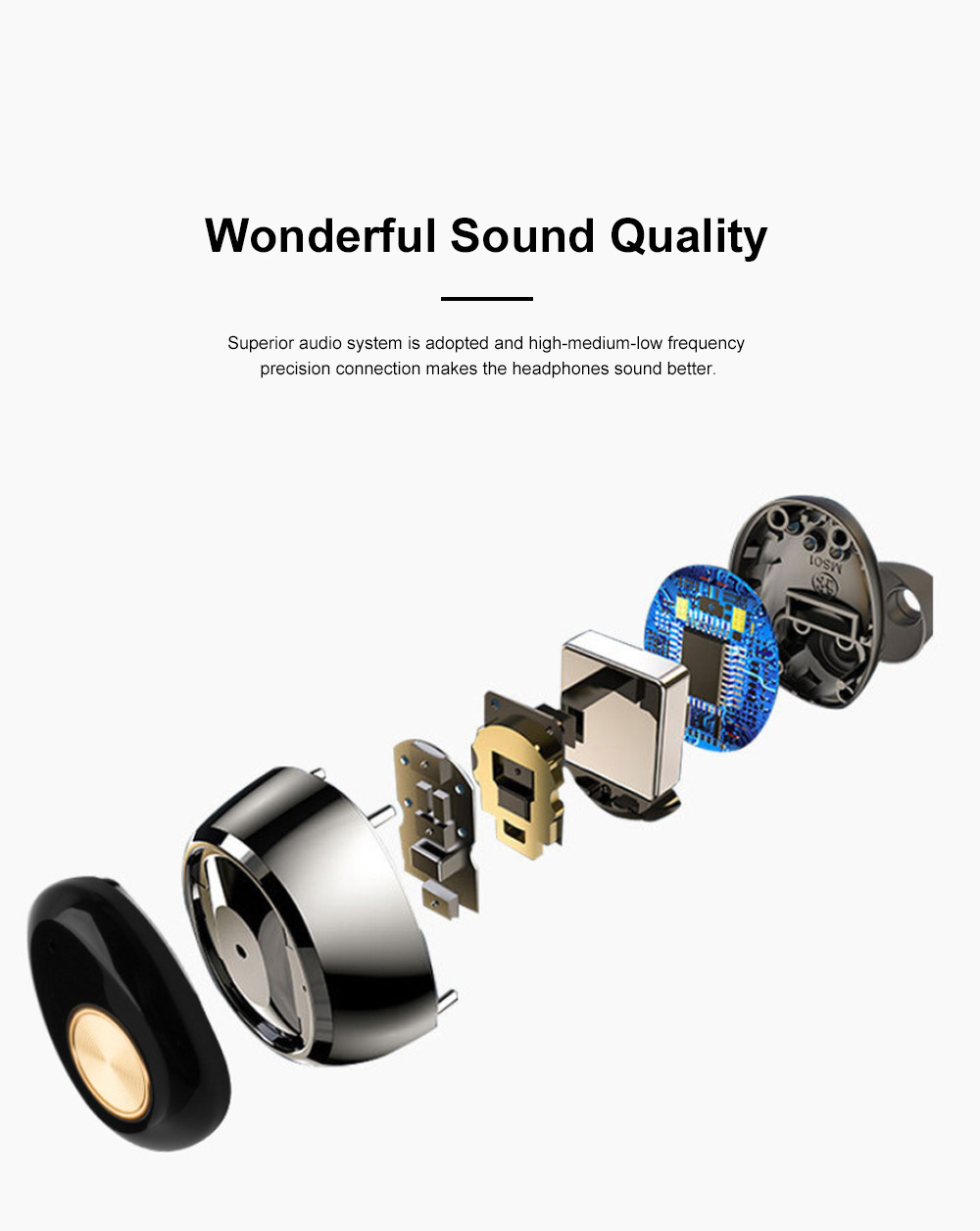 Portable Pull-Out Type Metal Case Bluetooth Earphones Long Endurance Wireless Headset with Wonderful Sound Quality 2