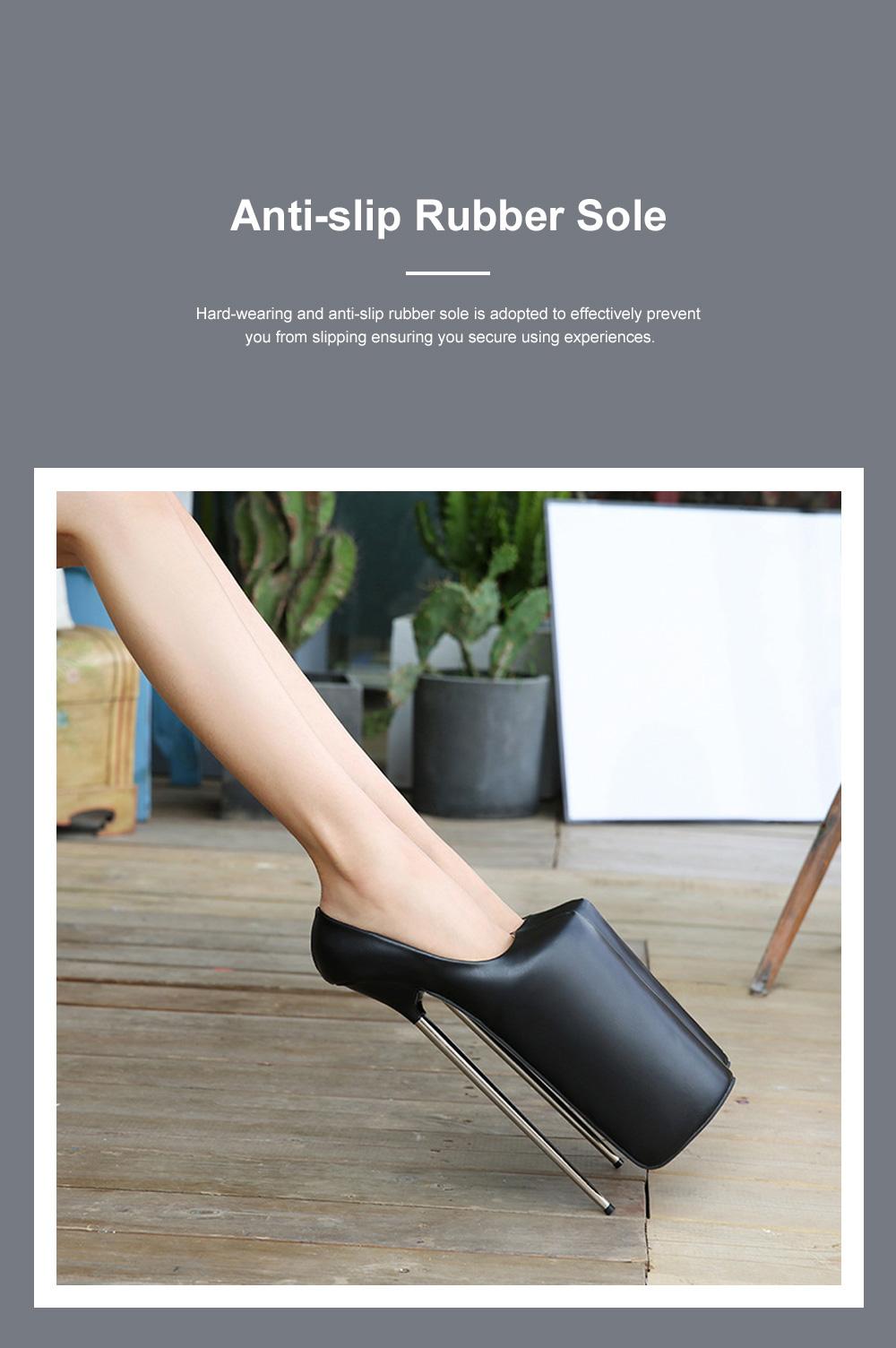 Stylish Sexy 30cm Platform Design High Heels Soft Skin-friendly PU Night Club Shoes with Anti-slip Rubber Sole Ins Hot 4