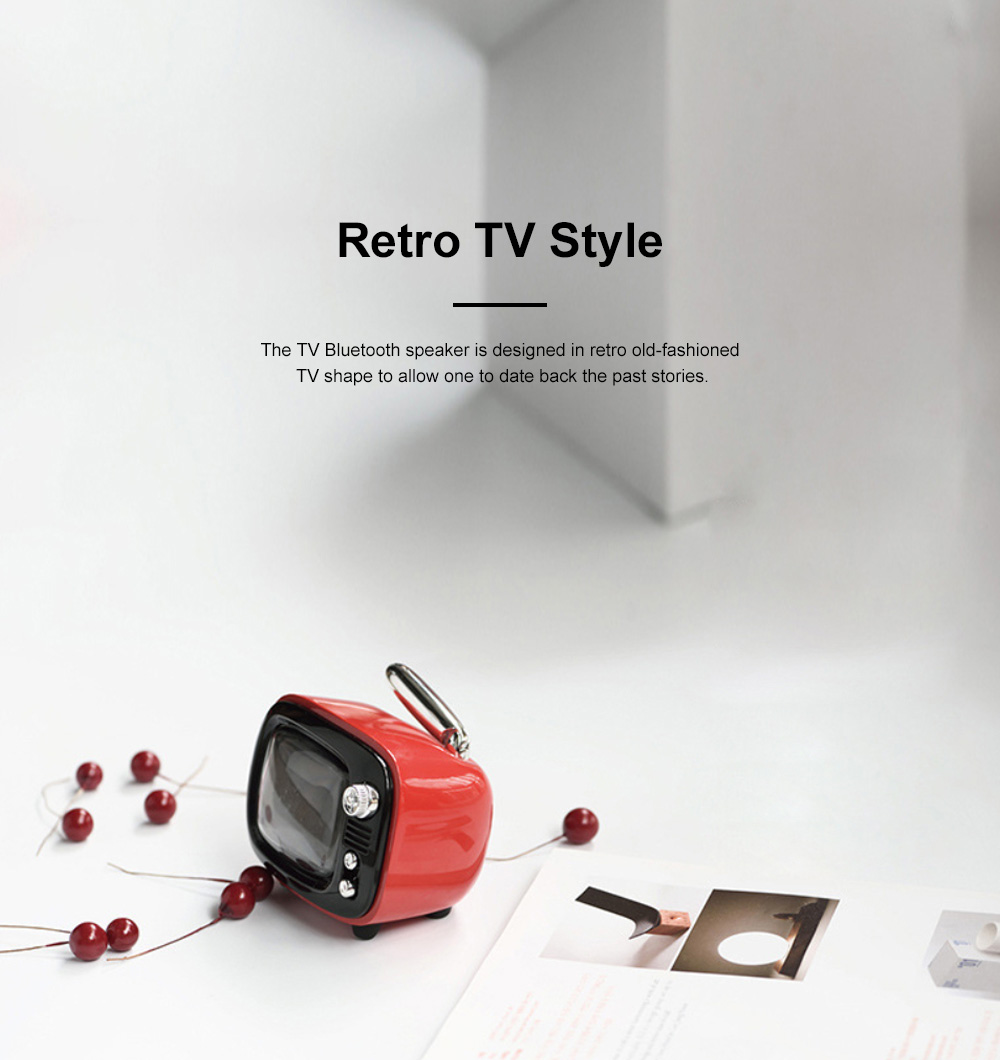 LOFREE Retro TV Bluetooth Speaker Portable Wireless Mini Bass Alarm Clock Love Confession Loudspeaker for Lover's Best Gift 6