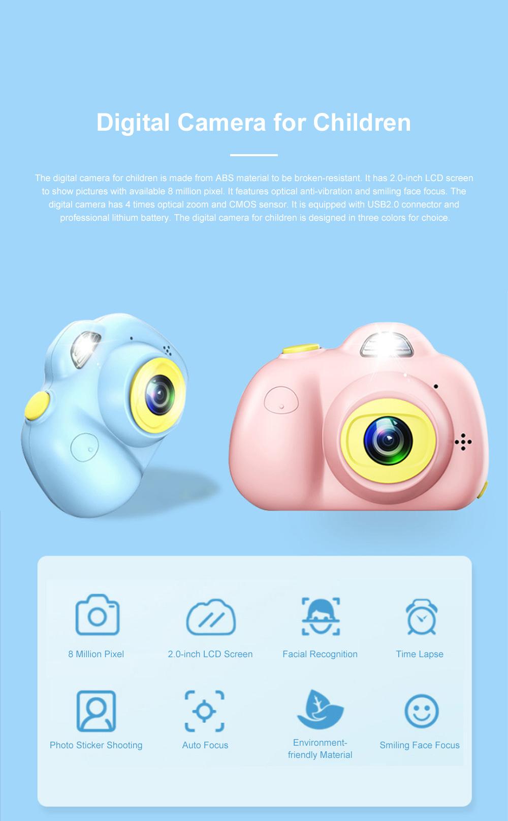 Children Digital Single Lens Reflex Creative Gift Household Use Broken-resistant Twin Lens Toy Camera Mini Funny Kids Digital Camera 0