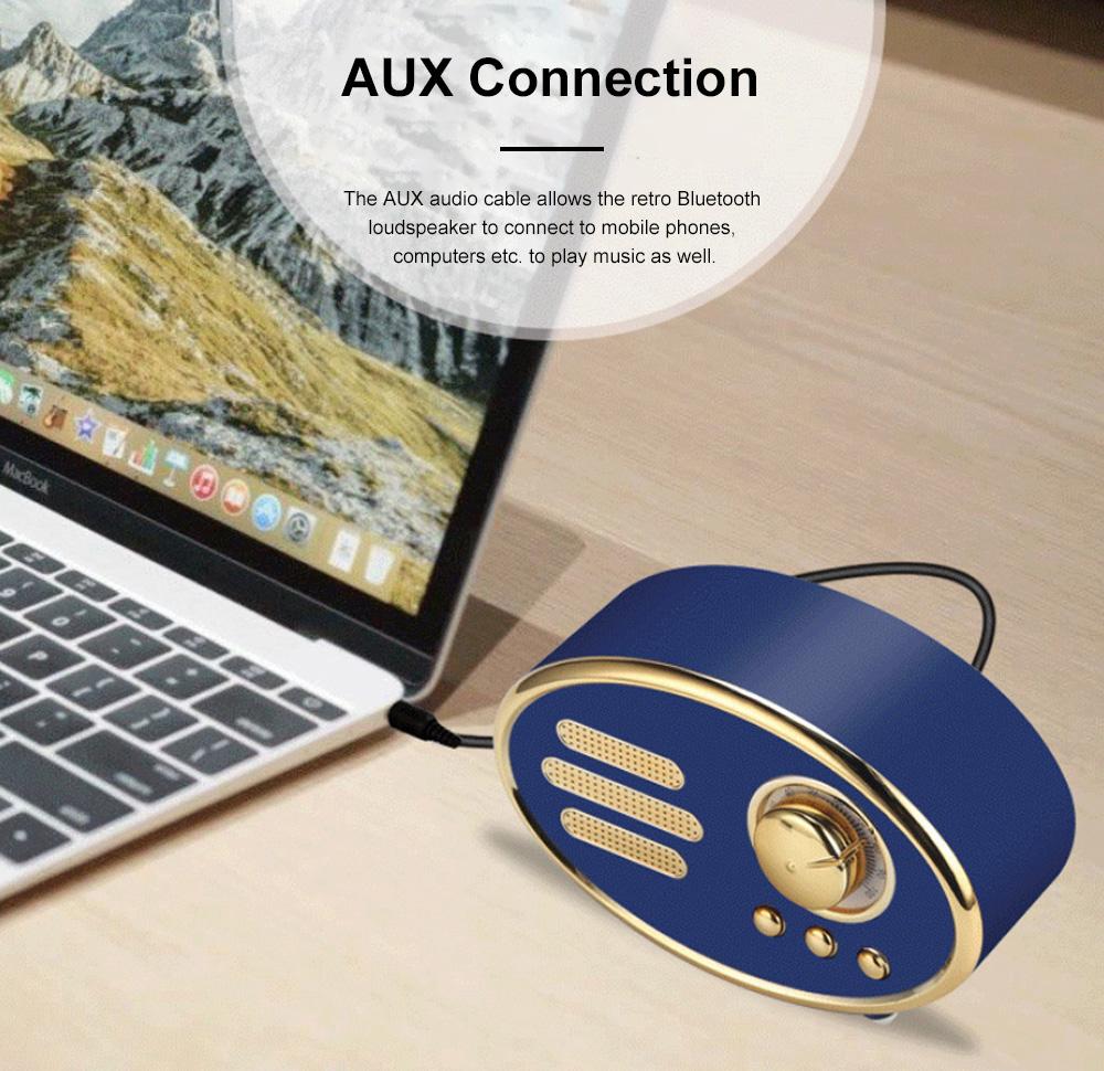 Retro Plastic Bluetooth Loudspeaker with FM Radio Receiver Portable Wireless Baffle Box Durable Mini Speaker Nice-looking Loudspeaker Box 4