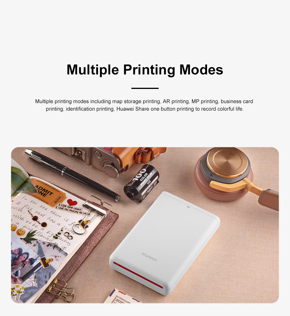 Huawei Portable Bluetooth Photo Printer for Outdoors Picture Printing Mini Instant Camera Photographic Paper Easy Carry Photo Printing Paper 9
