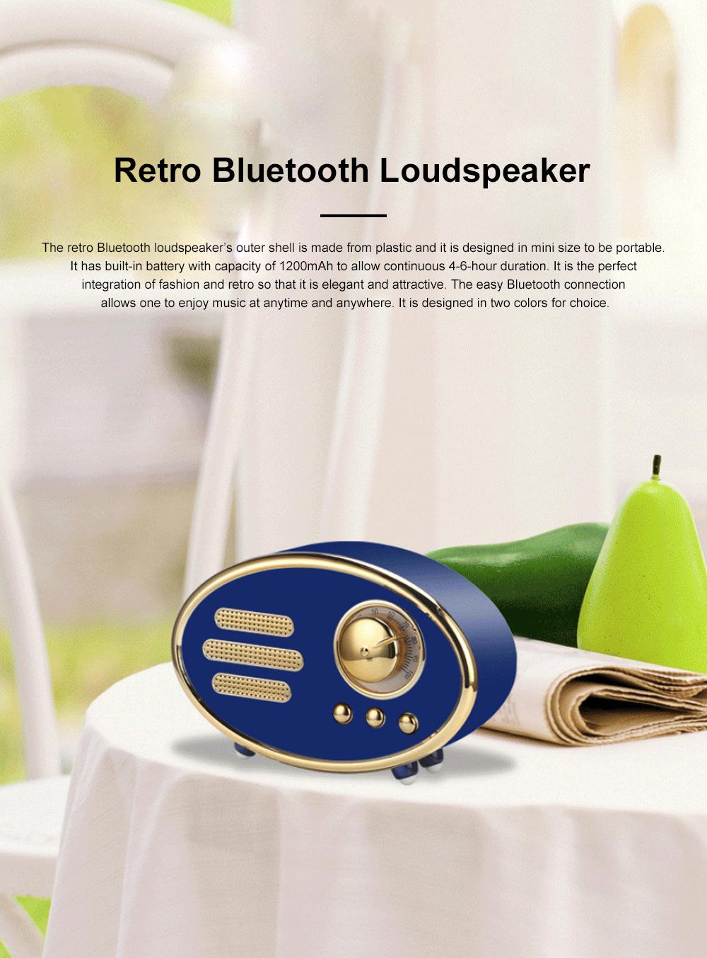 Retro Plastic Bluetooth Loudspeaker with FM Radio Receiver Portable Wireless Baffle Box Durable Mini Speaker Nice-looking Loudspeaker Box 0