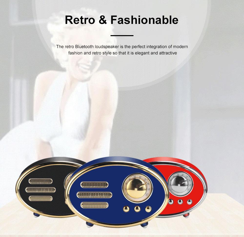 Retro Plastic Bluetooth Loudspeaker with FM Radio Receiver Portable Wireless Baffle Box Durable Mini Speaker Nice-looking Loudspeaker Box 1