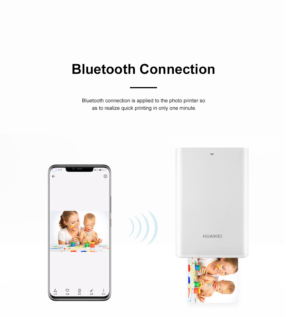 Huawei Portable Bluetooth Photo Printer for Outdoors Picture Printing Mini Instant Camera Photographic Paper Easy Carry Photo Printing Paper 3