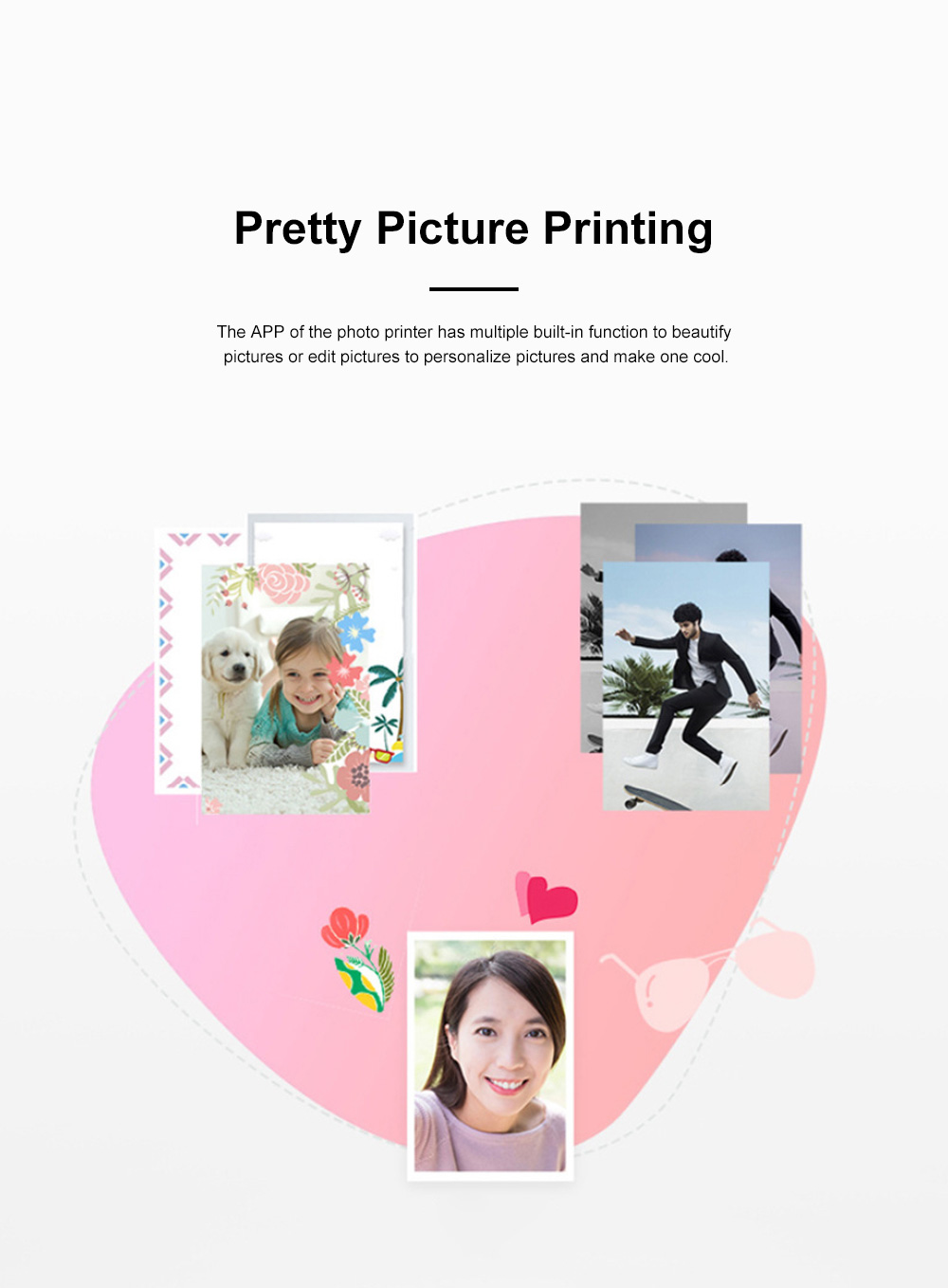 Huawei Portable Bluetooth Photo Printer for Outdoors Picture Printing Mini Instant Camera Photographic Paper Easy Carry Photo Printing Paper 5