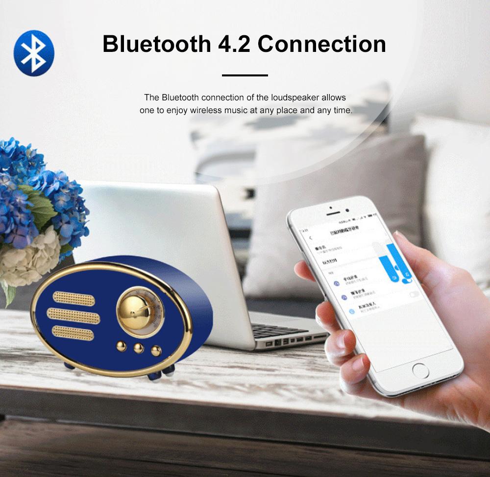 Retro Plastic Bluetooth Loudspeaker with FM Radio Receiver Portable Wireless Baffle Box Durable Mini Speaker Nice-looking Loudspeaker Box 2