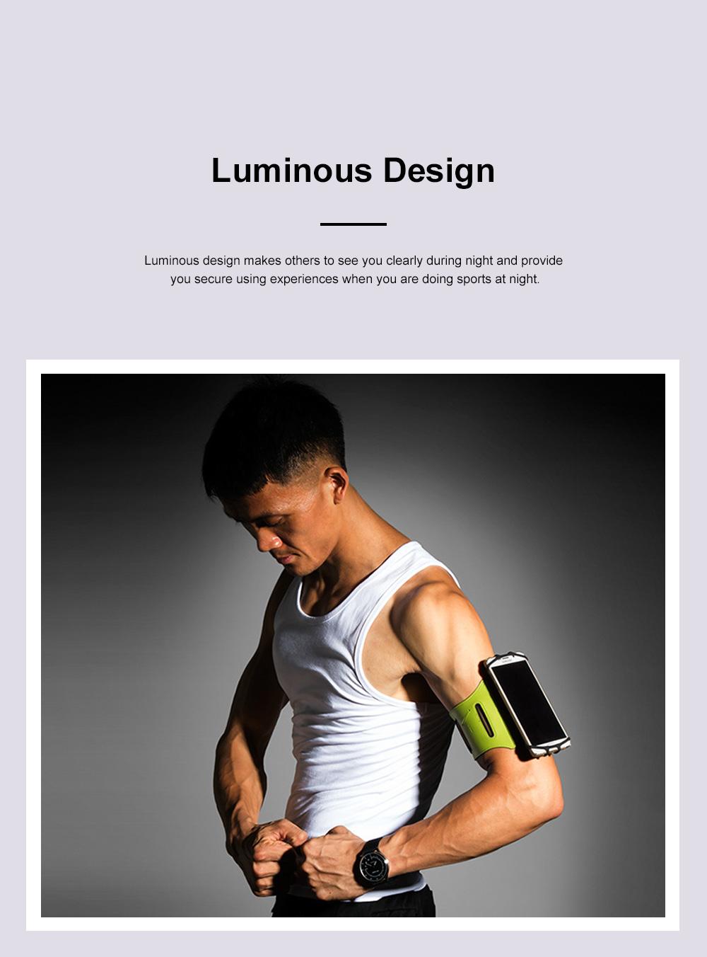 Multifunctional Portable Outdoors Running Mountain Climbing Gym Sports Unisex Luminous Night Light Rotatable Arm Bag 4