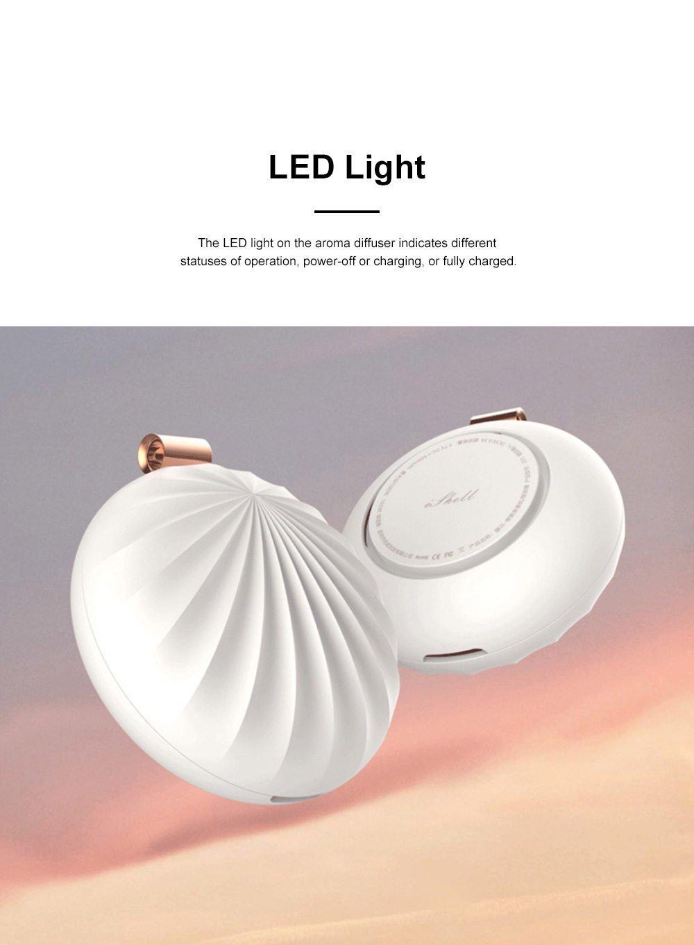 Portable Aroma Diffuser for Mobile Officing Bedroom Use USB Chargeable Aerosol Dispenser Shell Designed Mini Vehicle-mounted Nebulizing Diffuser 4