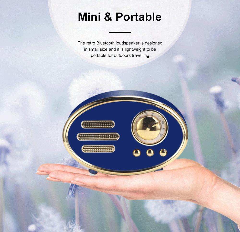 Retro Plastic Bluetooth Loudspeaker with FM Radio Receiver Portable Wireless Baffle Box Durable Mini Speaker Nice-looking Loudspeaker Box 7