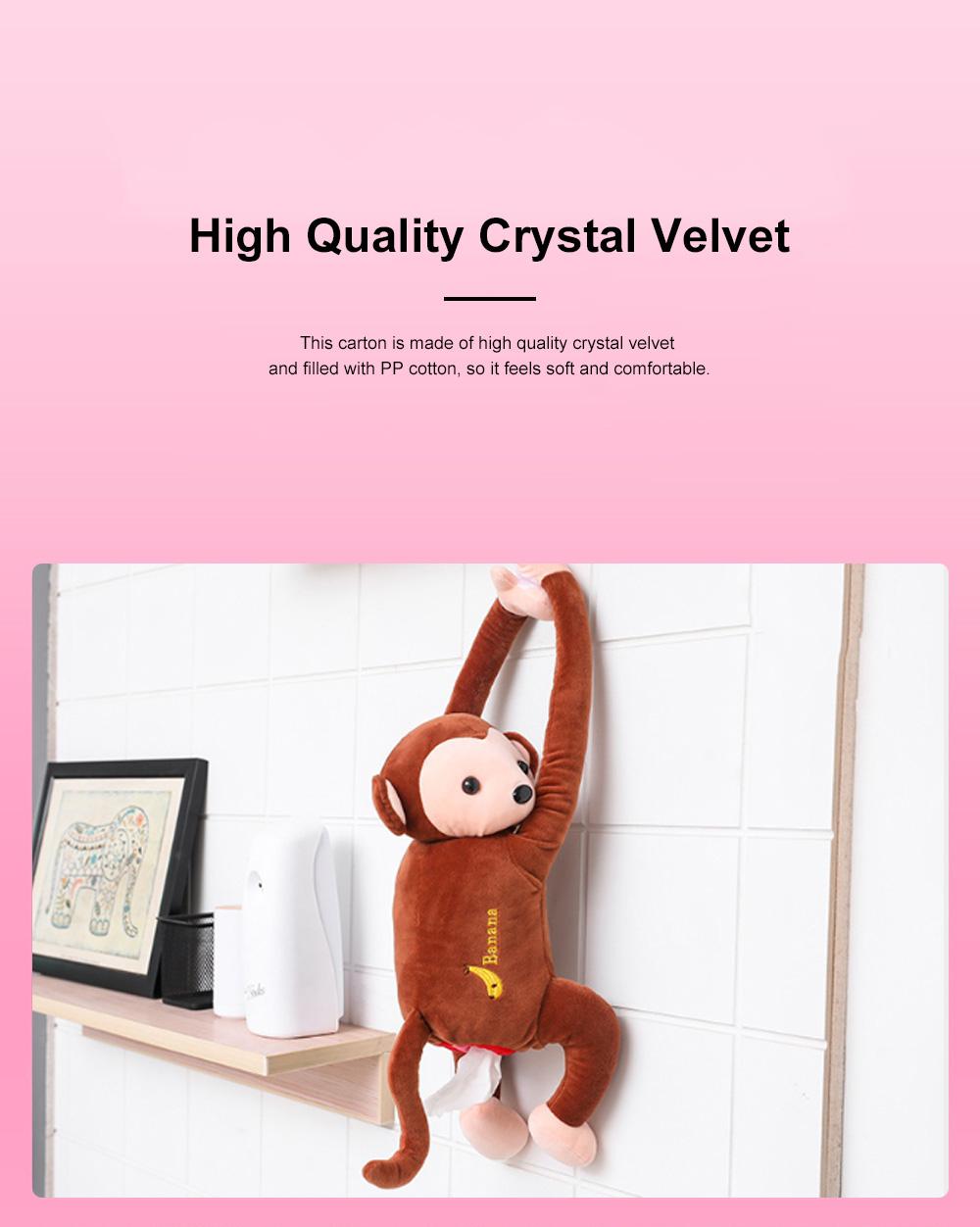 Monkey-shaped Hanging Paper Towel Boxes Popular Car Tissue Bag Pumping Carton Paper Towels Case TikTok Hot 6