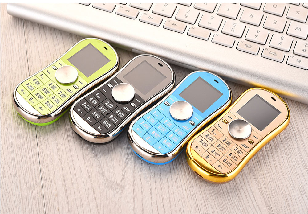 Multifunction Mini Phone Gyro Spinner Mobile Dual SIM Card GSM 900 1800 GPRS Bluetooth FM Radio Hand Spinner Cellphone With English Keyboard 6