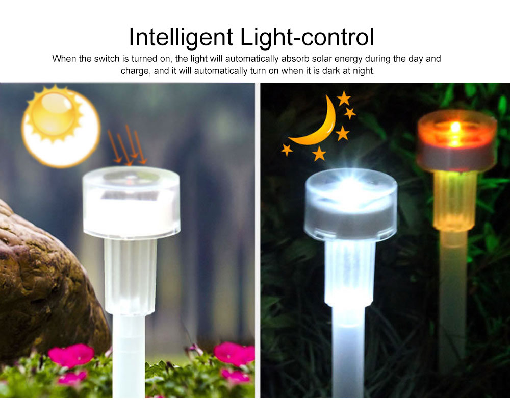 Solar Powered Colorful Magic Light Bulb Lamp Creative Outdoors Decoration LED Lamp for yard & Garden 3