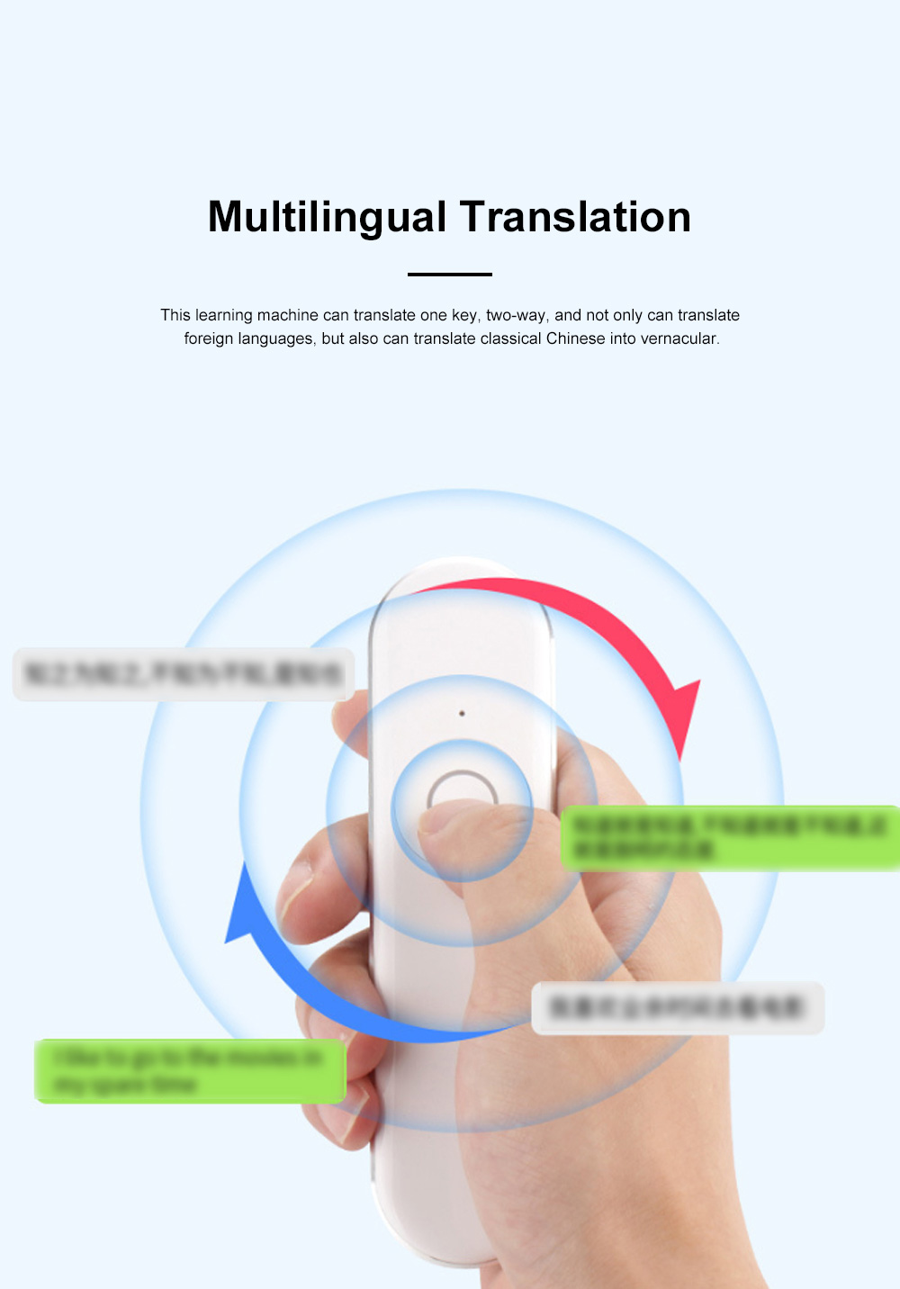 Portable T9 Intelligent Translator English Learning Machine Travel Business Portable Translator 4