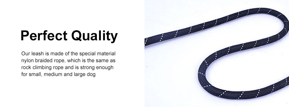 Heavy Duty Nylon Dog Leash Sturdy Pet Reflective Dog Lead with Comfortable Padded Handle Perfect for Medium and Large Dogs 5
