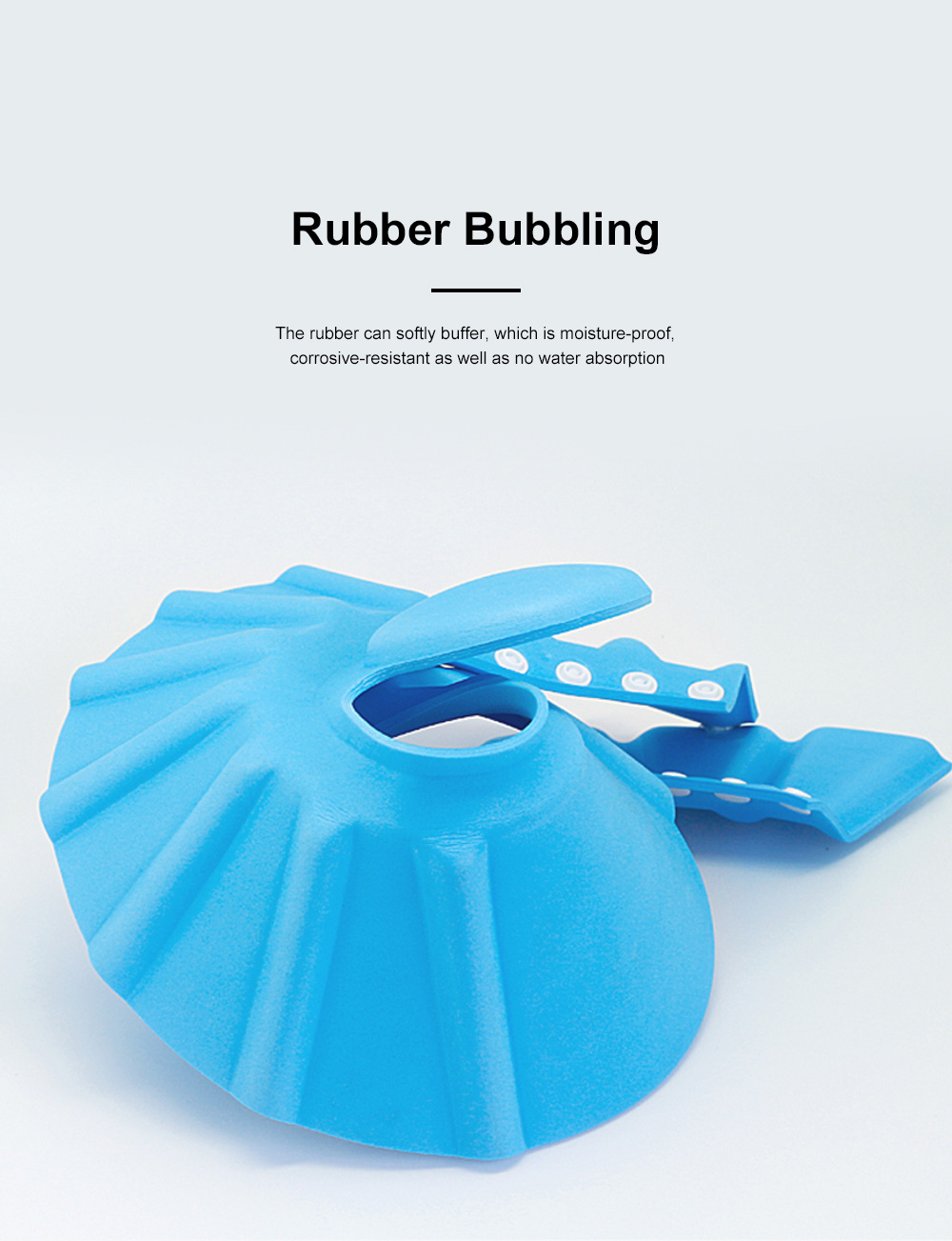 Adjustable Baby Bath Visor Cap Waterproof & Elastic Ring Hat for Shower, Bathtub, Sun Bathing, Hair Cutting 5