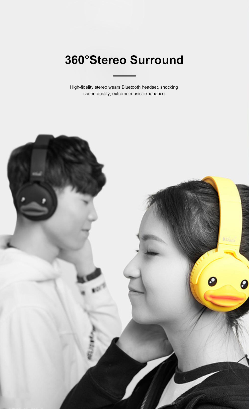 B.Duck Bluetooth Headphones Wireless Headset for Women Men Mobile Noise Reduction Sports Headphones Music Stereo 3