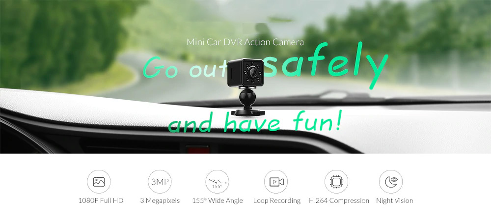 SQ13 Mini HD 1080P Car DVR DV Camera Recorder Wifi Action Camera Night Vision H.264 155 Degree Wide Angle Sport DV 0