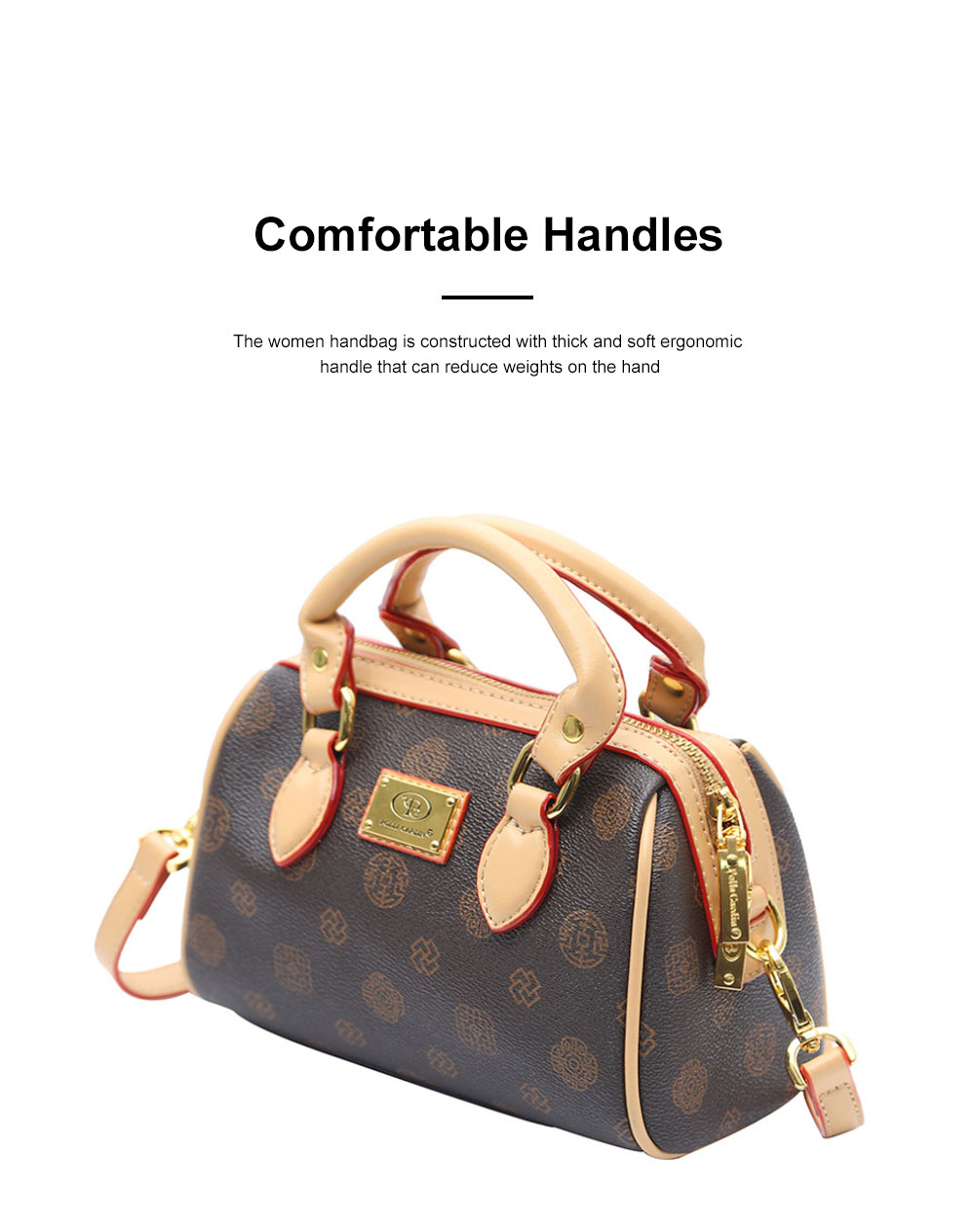 Women Cross-Body Bag with Super Comfortable Handles Textured PU Leather Shoulder Bag 5
