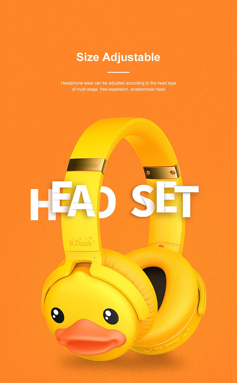 B.Duck Bluetooth Headphones Wireless Headset for Women Men Mobile Noise Reduction Sports Headphones Music Stereo 4