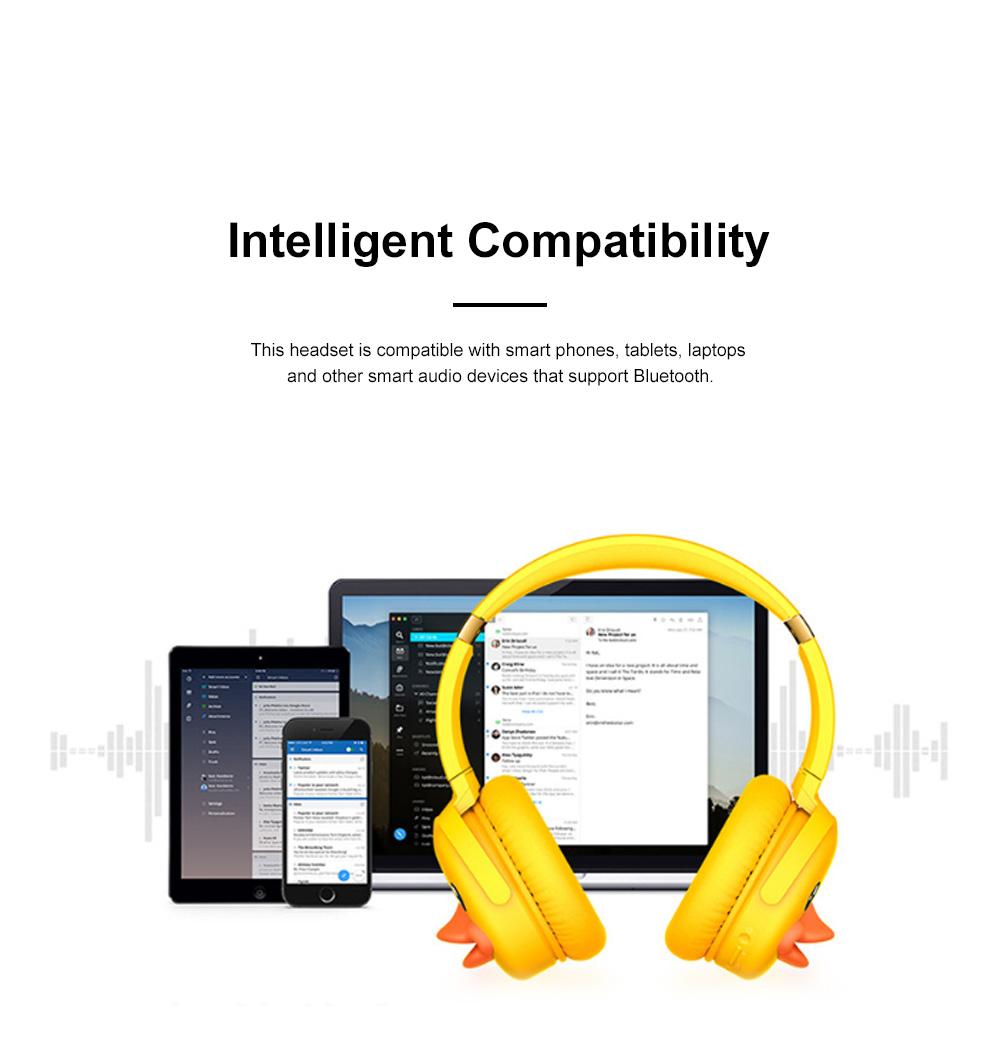 B.Duck Bluetooth Headphones Wireless Headset for Women Men Mobile Noise Reduction Sports Headphones Music Stereo 6