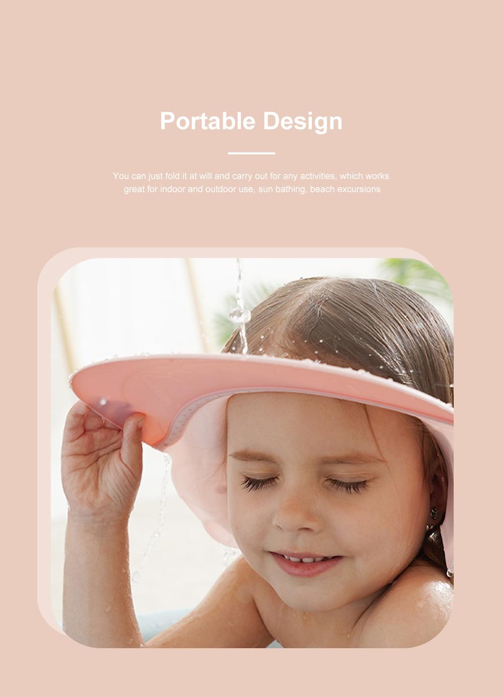 Baby Bathing Cap Shampoo Visor Bathroom Safety Caps with Adjustable Sticker Waterproof & Elastic Octopus Shampoo Hat for Showers, Bathing 2