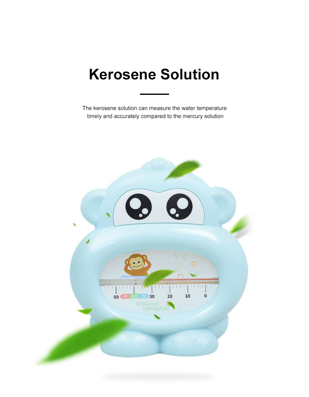 Baby Bath Thermometer Water Thermometer Monkey Shape Temperature for Infants Toddler Shower All Season 1