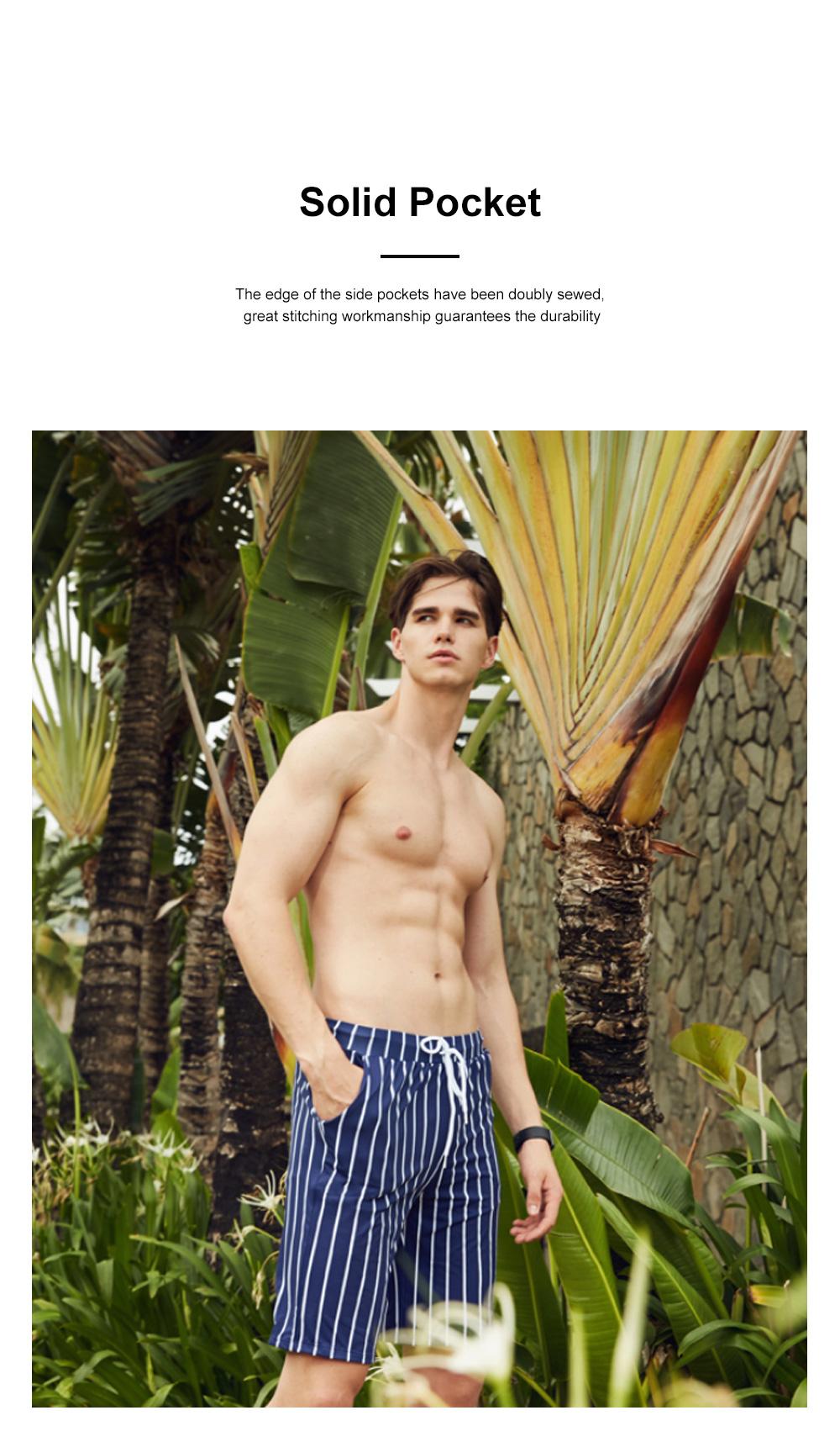 Men Beach Pants Swim Trunk Half Size Colorful Patterns Waterproof Loosing Shorts For Swimming Beach Spring Summer 3
