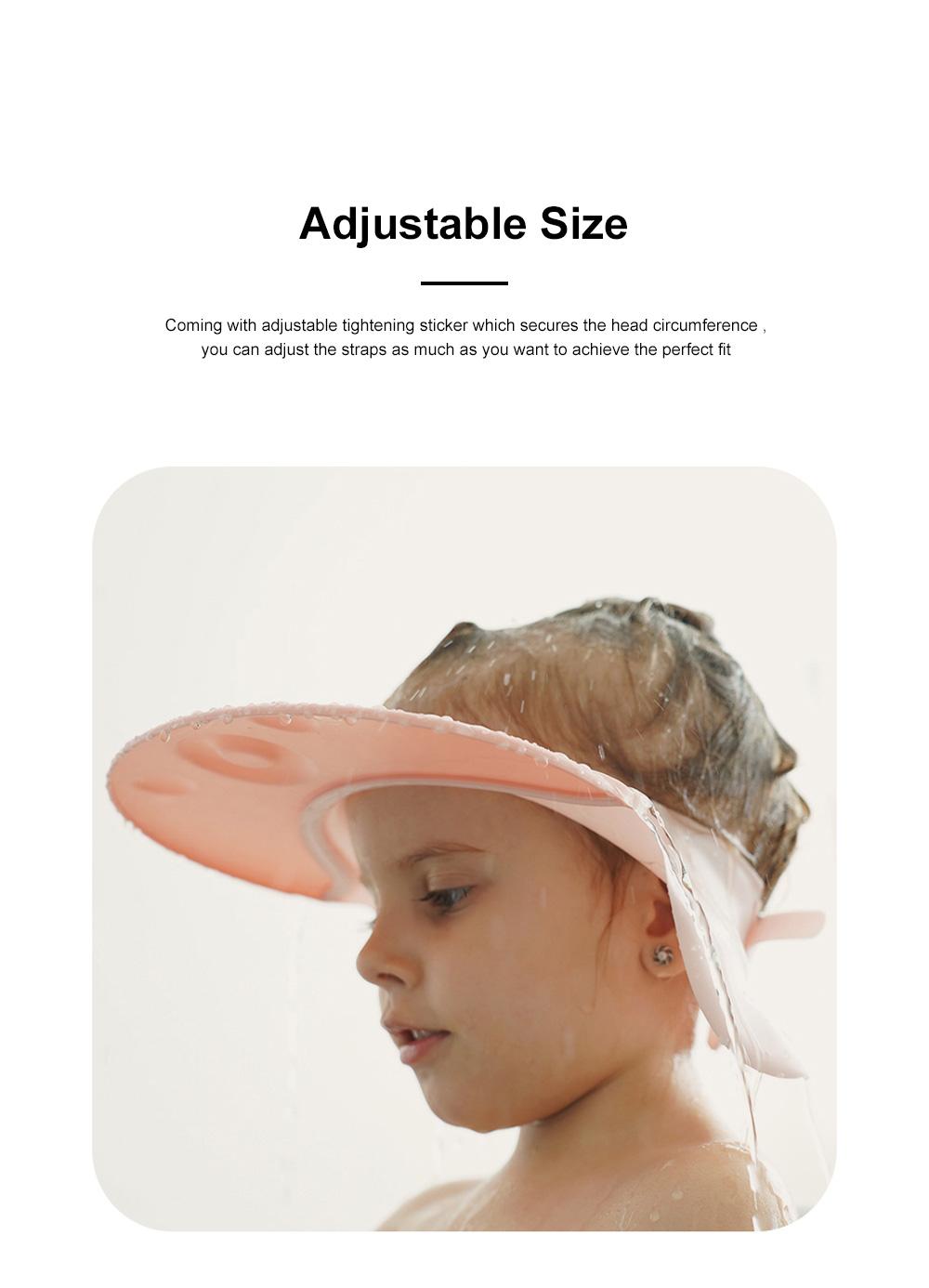 Baby Bathing Cap Shampoo Visor Bathroom Safety Caps with Adjustable Sticker Waterproof & Elastic Octopus Shampoo Hat for Showers, Bathing 1