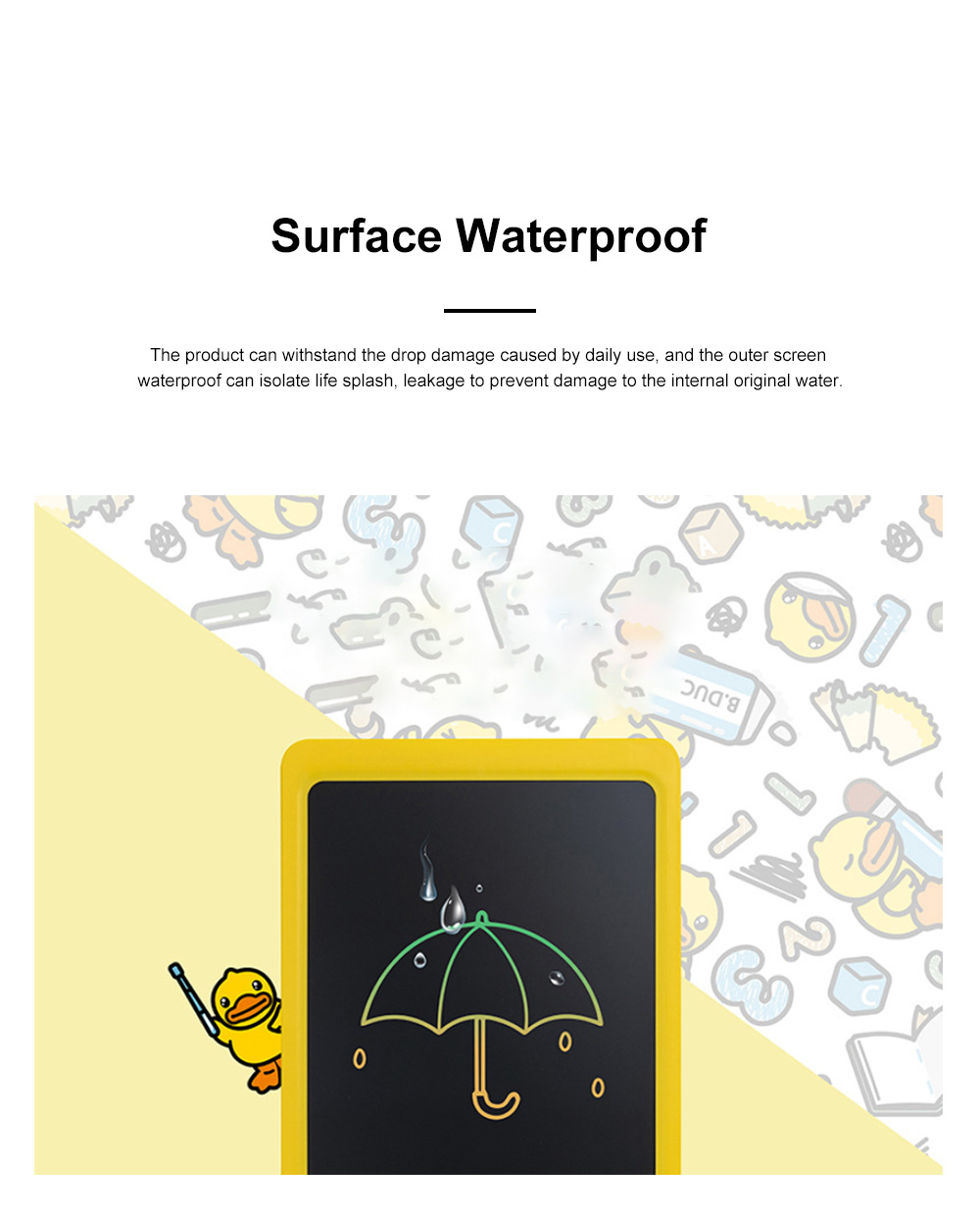 Little Yellow Duck Children's Color LCD Drawing Board 10.5 inch 8.5 inch Handwriting Board Graffiti Drawing Board Electronic Blackboard Writing Board 3