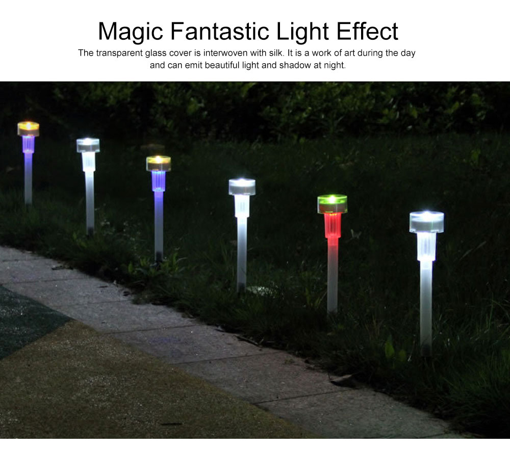 Solar Powered Colorful Magic Light Bulb Lamp Creative Outdoors Decoration LED Lamp for yard & Garden 2