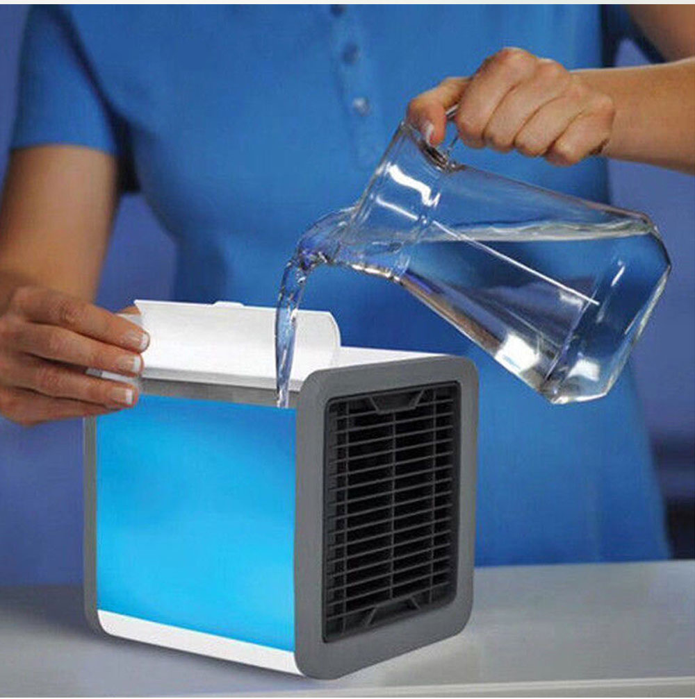 Mini Air Conditioner Fan Personal Space Air Cooler Quick Easy Cooling Air Conditioning Cooler Fan for Office Home 4