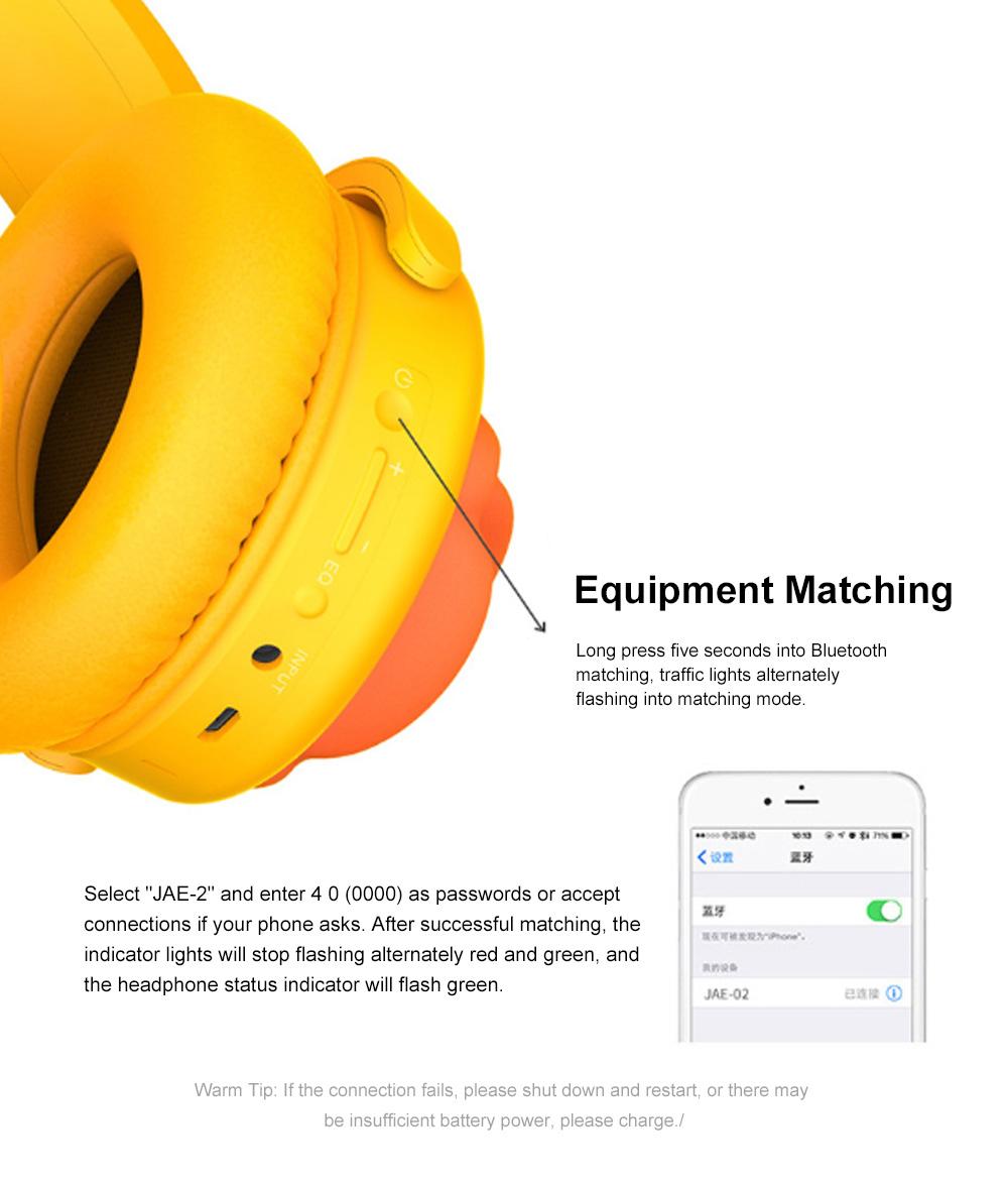 B.Duck Bluetooth Headphones Wireless Headset for Women Men Mobile Noise Reduction Sports Headphones Music Stereo 9