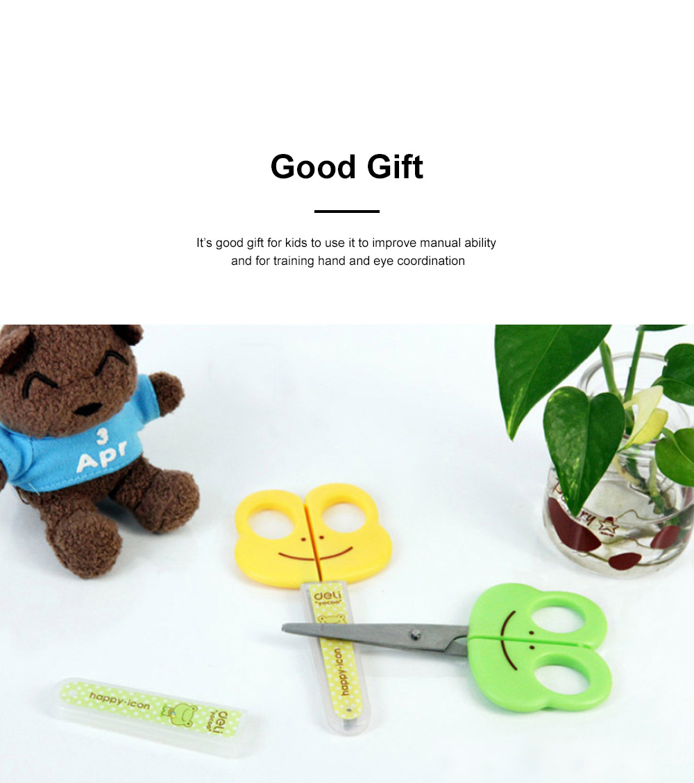 Students Cartoon Cute Scissor with Lovely Fog Pattern Practical Safe Protector for Handwork 1
