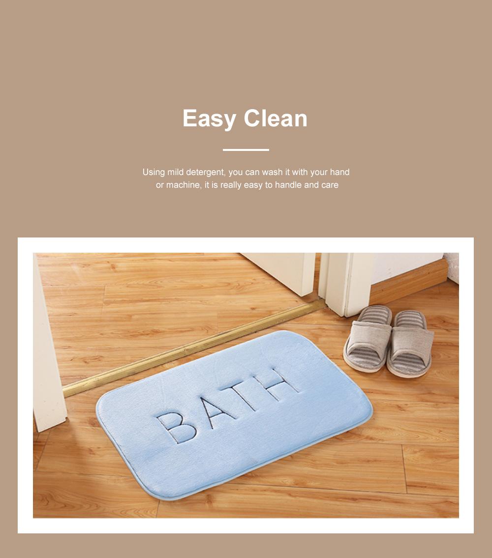 Coral Velvet Bath Mat Absorbent Cozy Bathroom Rug Carpet Memory Foam Non Slip Machine Washable 4