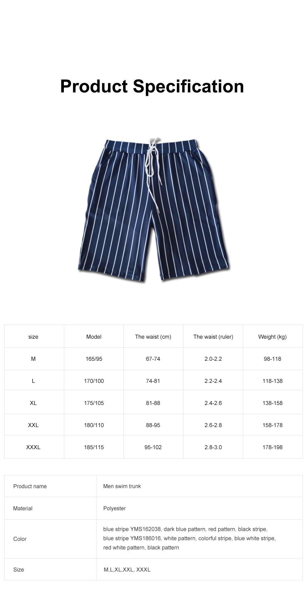 Men Beach Pants Swim Trunk Half Size Colorful Patterns Waterproof Loosing Shorts For Swimming Beach Spring Summer 7