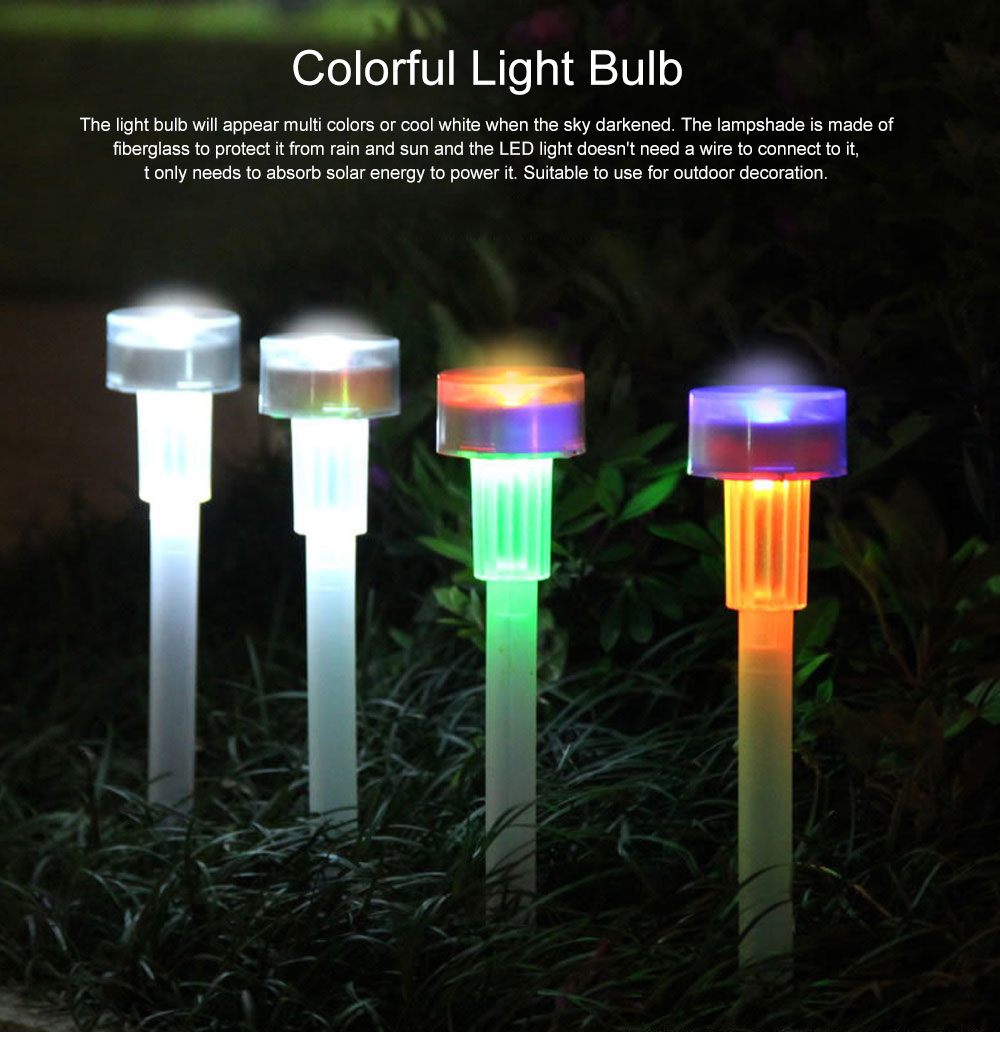 Solar Powered Colorful Magic Light Bulb Lamp Creative Outdoors Decoration LED Lamp for yard & Garden 0