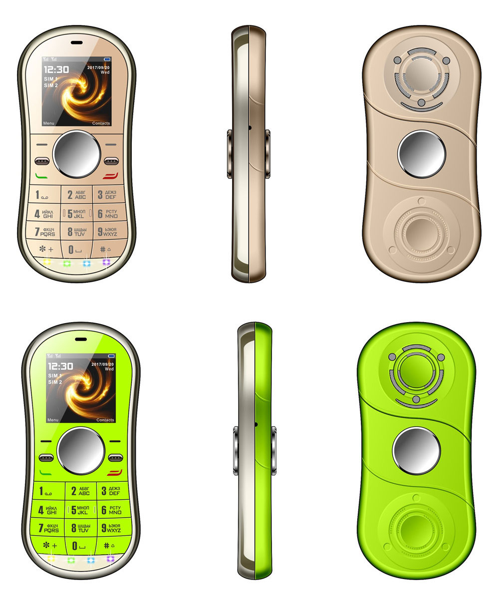 Multifunction Mini Phone Gyro Spinner Mobile Dual SIM Card GSM 900 1800 GPRS Bluetooth FM Radio Hand Spinner Cellphone With English Keyboard 4