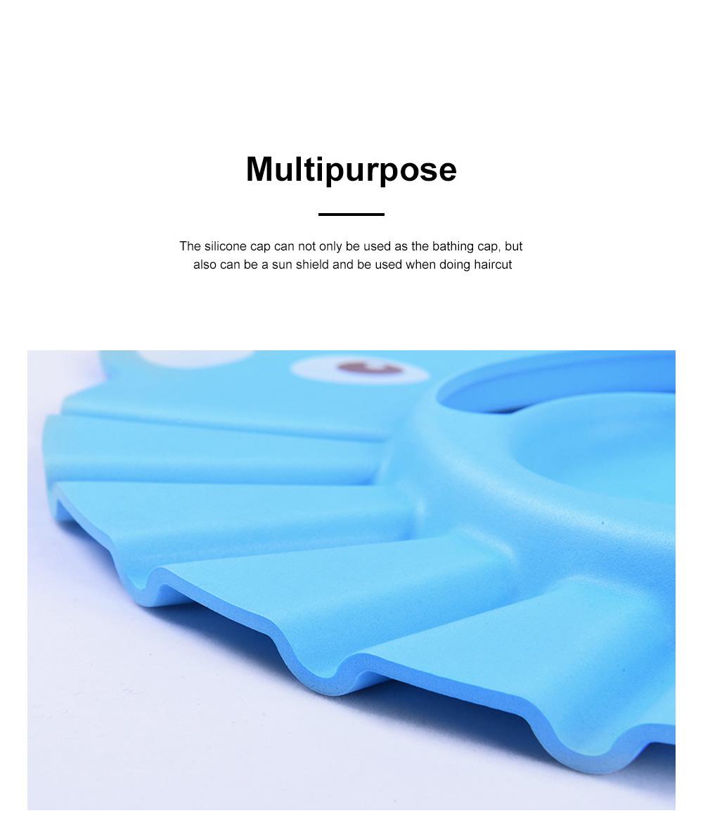 Adjustable Baby Bath Visor Cap Waterproof & Elastic Ring Hat for Shower, Bathtub, Sun Bathing, Hair Cutting 4