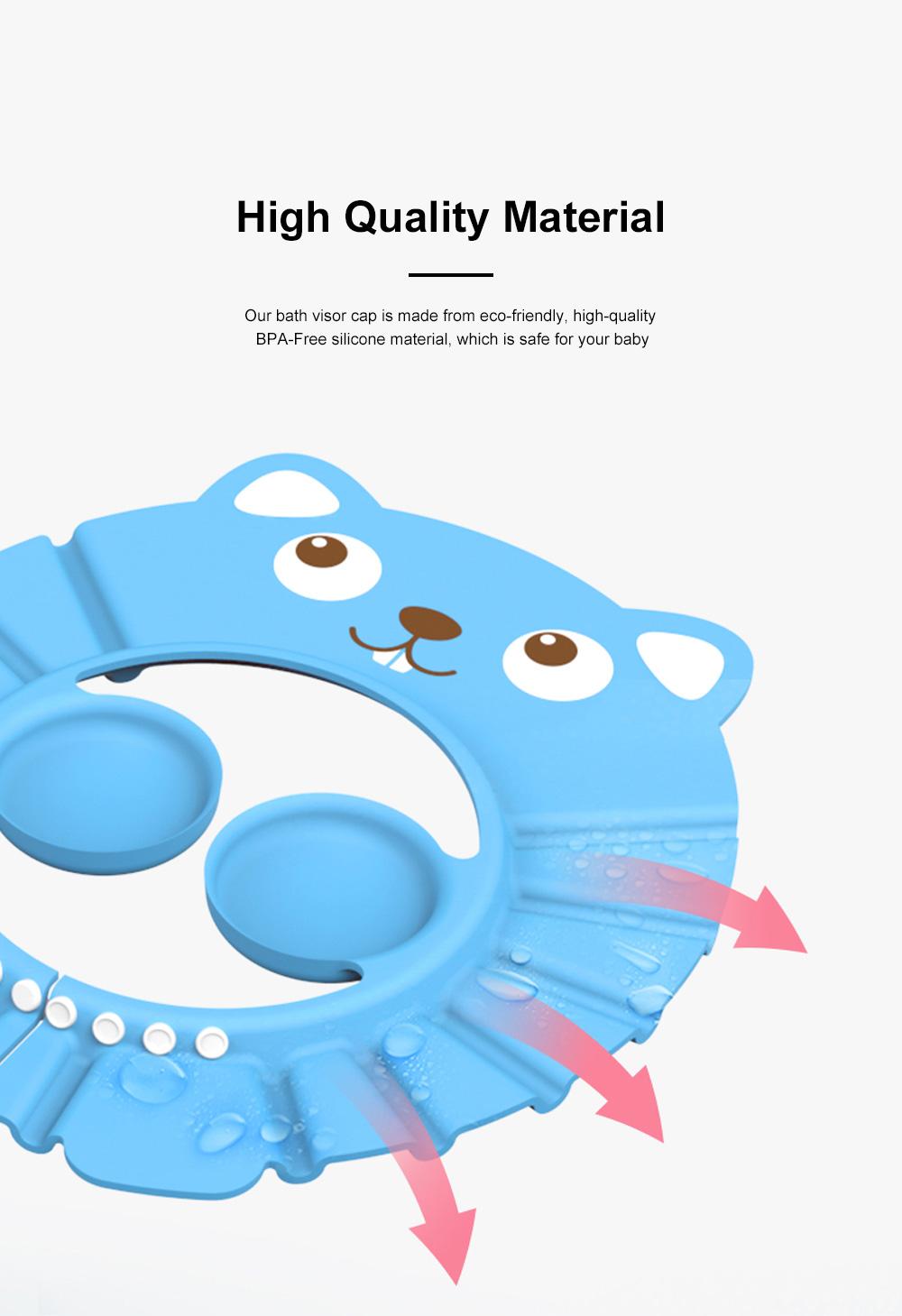 Adjustable Baby Bath Visor Cap Waterproof & Elastic Ring Hat for Shower, Bathtub, Sun Bathing, Hair Cutting 1