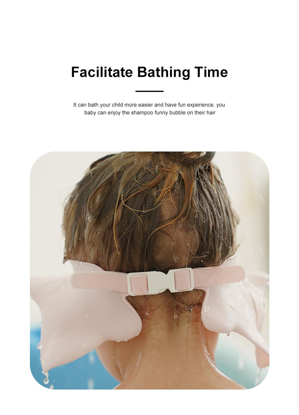 Baby Bathing Cap Shampoo Visor Bathroom Safety Caps with Adjustable Sticker Waterproof & Elastic Octopus Shampoo Hat for Showers, Bathing 5