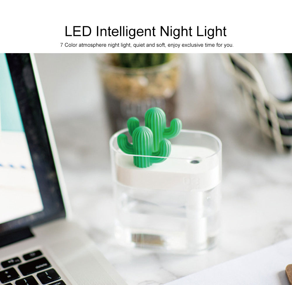 160ml Crystal Bionic Cactus Humidifier Mini Aromatherapy Sprayer Humidifiers Craft Ornament Best Gift 4