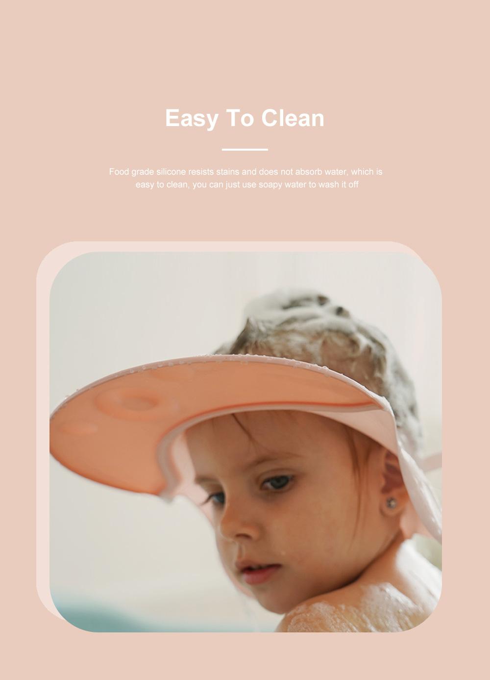 Baby Bathing Cap Shampoo Visor Bathroom Safety Caps with Adjustable Sticker Waterproof & Elastic Octopus Shampoo Hat for Showers, Bathing 4