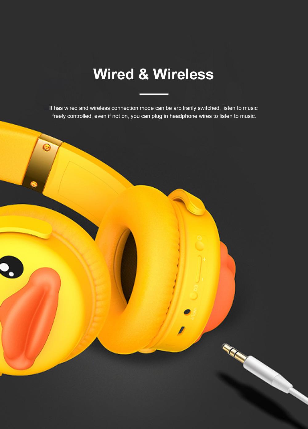 B.Duck Bluetooth Headphones Wireless Headset for Women Men Mobile Noise Reduction Sports Headphones Music Stereo 5