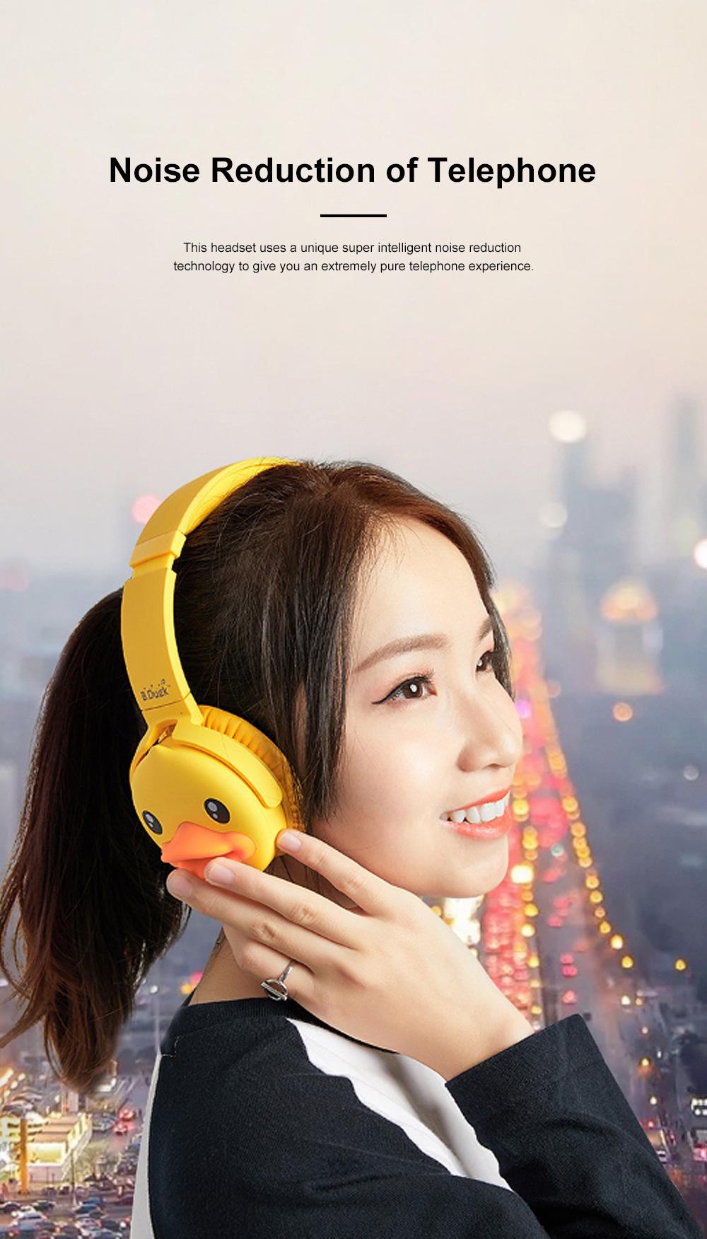 B.Duck Bluetooth Headphones Wireless Headset for Women Men Mobile Noise Reduction Sports Headphones Music Stereo 1