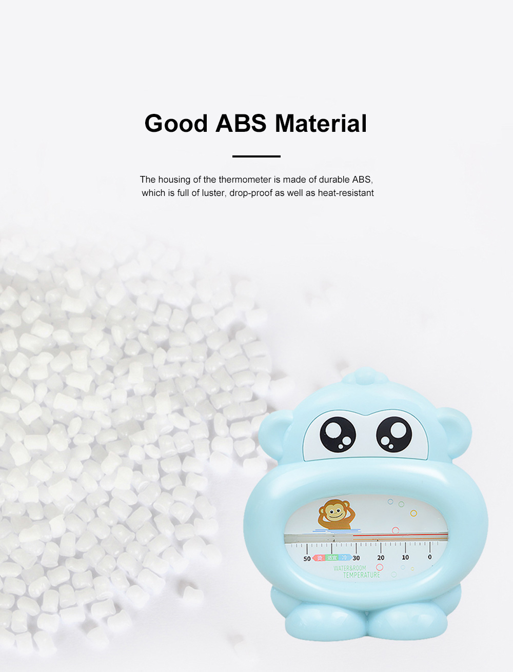 Baby Bath Thermometer Water Thermometer Monkey Shape Temperature for Infants Toddler Shower All Season 4