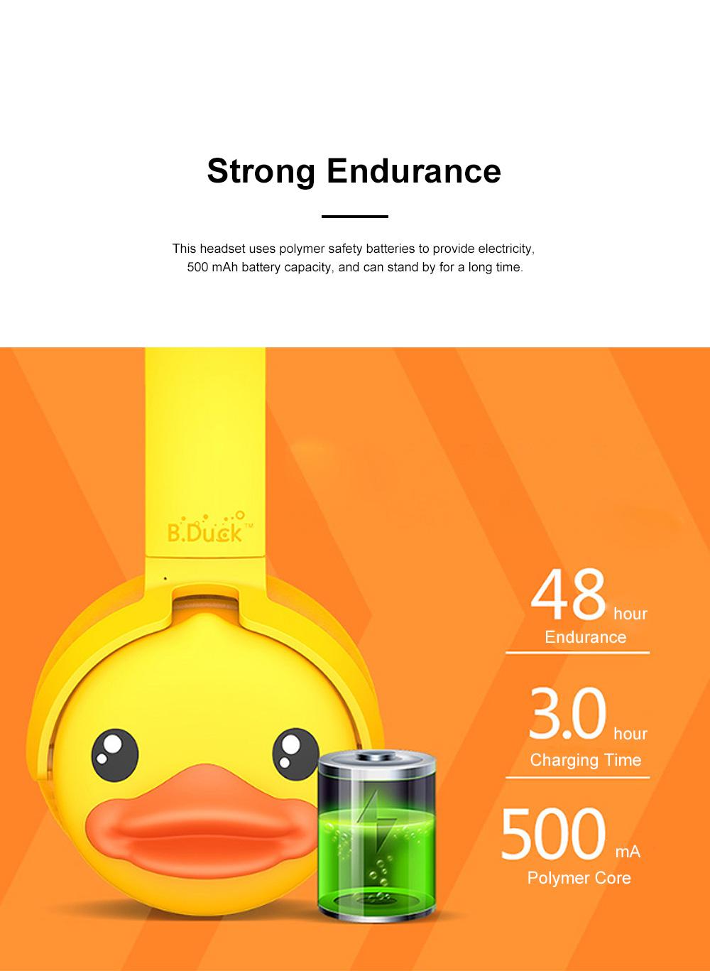B.Duck Bluetooth Headphones Wireless Headset for Women Men Mobile Noise Reduction Sports Headphones Music Stereo 11