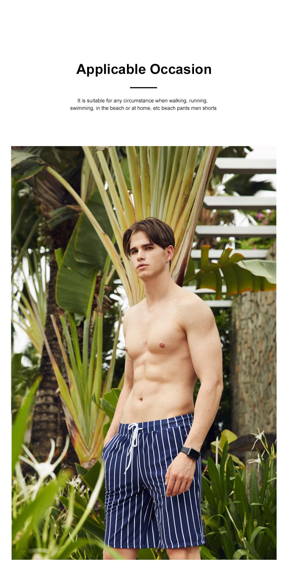 Men Beach Pants Swim Trunk Half Size Colorful Patterns Waterproof Loosing Shorts For Swimming Beach Spring Summer 1
