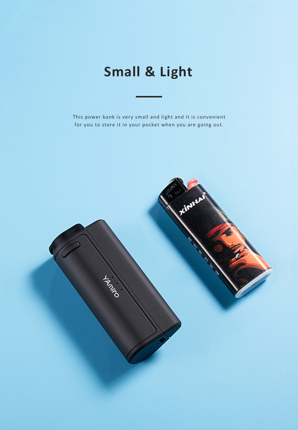 Delicate Multifunctional Portable Mobile Wireless Charging Mini Large Capacity Power Bank Cigarette Lighter 2